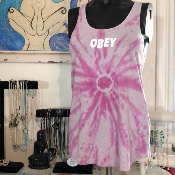Obey Tops - Obey tie dye tank